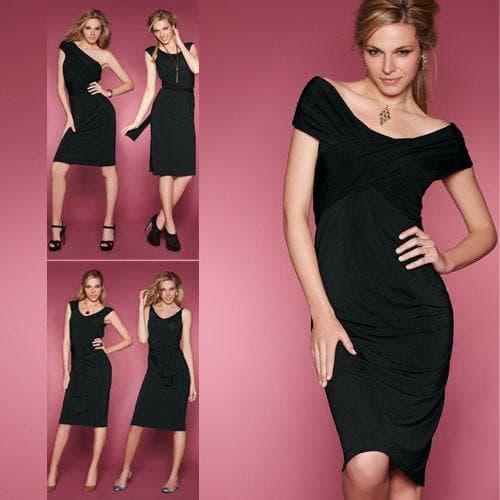 чёрное платье трансформер