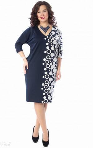 платье футляр из купонной ткани большого размера