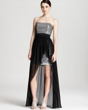 асимметричное платье от Aidan Mattox