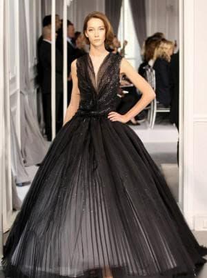 платье в пол для полных от Christian Dior