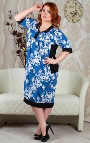платье с цветным принтом большого размера