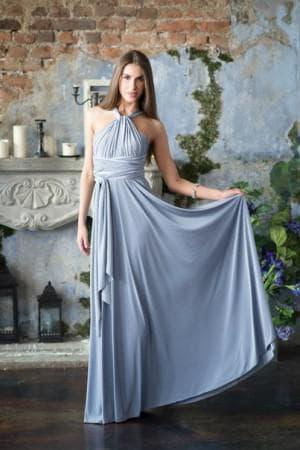 серое платье трансформер