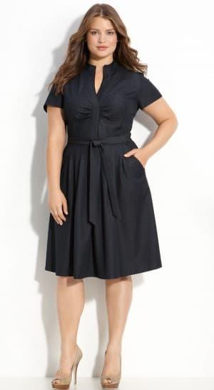 платье халат большого размера