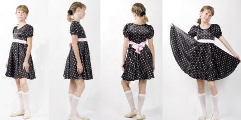 короткое платье солнышко из штапеля клёш от груди