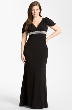 платье в пол для полных от Rochas