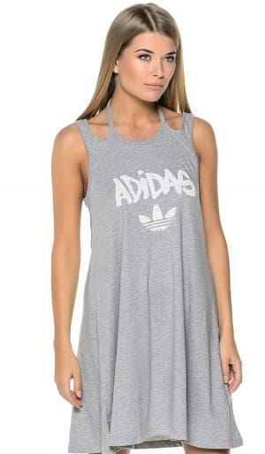 спортивное трикотажное платье от Adidas