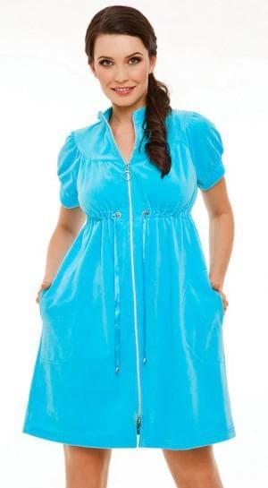 платье халат из велюра большого размера