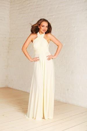 молочно белое платье трансформер