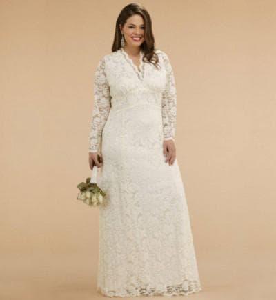 венчальное платье большого размера