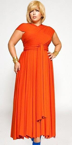 оранжевое платье трансформер