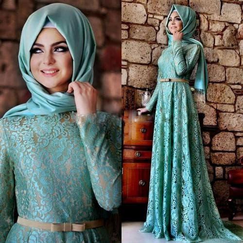 вечернее исламское платье