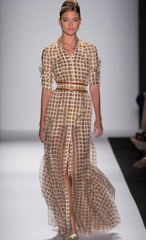 платье из купонной ткани от Carolina Herrera