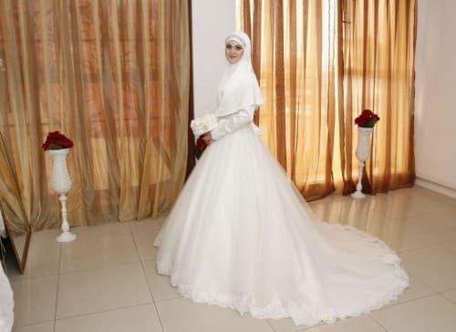 свадебное исламское платье
