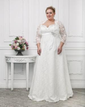венчальное платье большого размера А силуэт