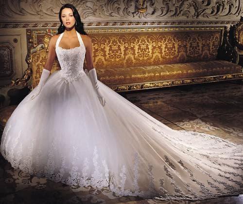 очень пышное абстрактное свадебное платье