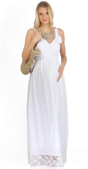 сарафан для беременных на лето с плечевыми креплениями