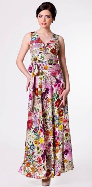 нарядное платье из штапеля