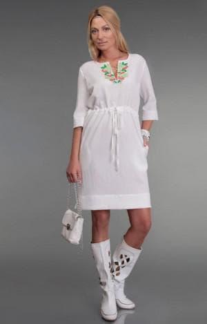 повседневное льняное платье из турции