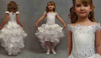 вечерние платья со шлейфом для девочек
