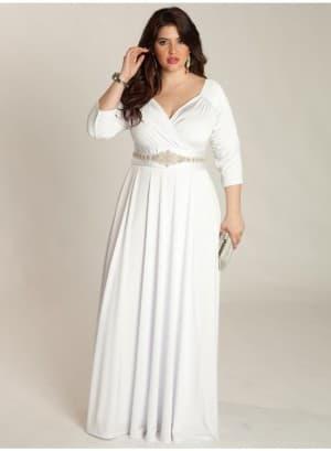 венчальное платье ампир большого размера