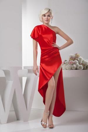 асимметричное платье на выпускной для мамы