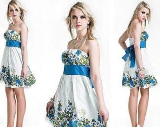 модели платьев из купонной ткани