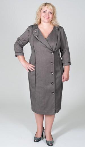 хлопковое платье халат большого размера