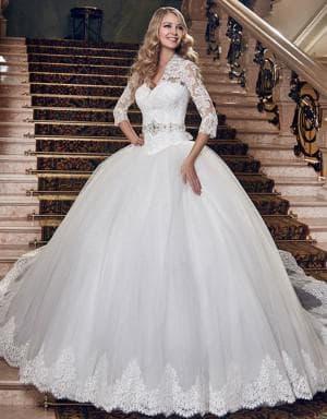 очень пышное бальное свадебное платье