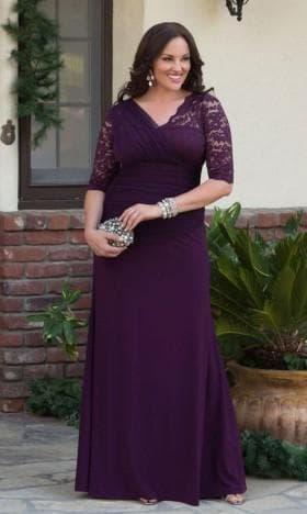 платье в пол для полных от Isaac Mizrahi