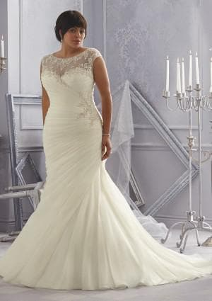 венчальное платье русалка большого размера