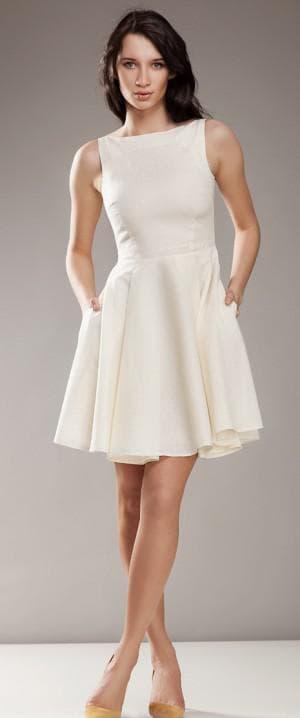 короткое платье солнышко из льна