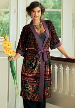 платье халат из атласа большого размера