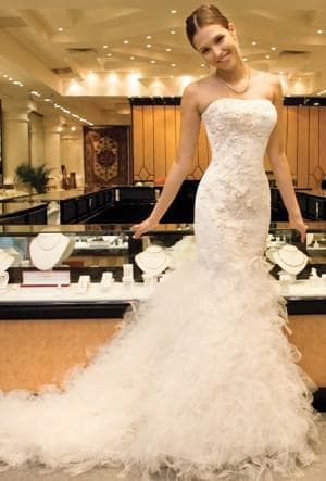 очень пышное свадебное платье русалочка