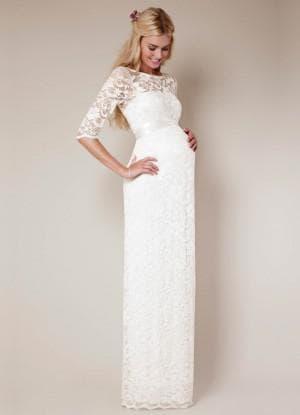 венчальное платье для беременных