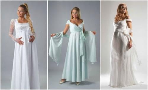 венчальное платье А силуэт для беременных
