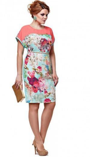 платье с цветным принтом из Белоруссии