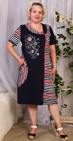 платье халат с ассиметричной застёжкой большого размера