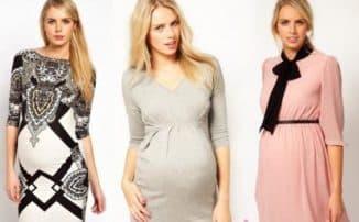 фасоны длинного платья для беременных