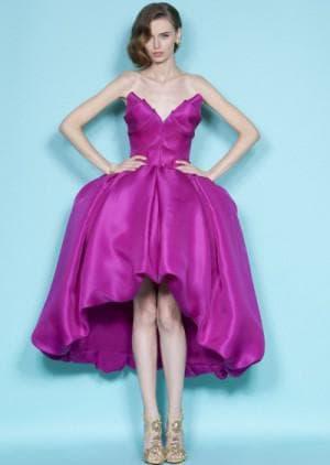 выпускное асимметричное платье от Marchesa