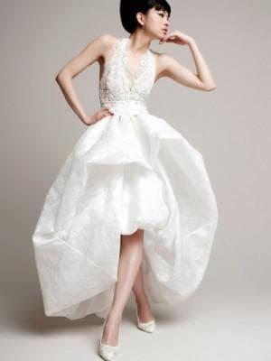 свадебное асимметричное платье от YolanCris