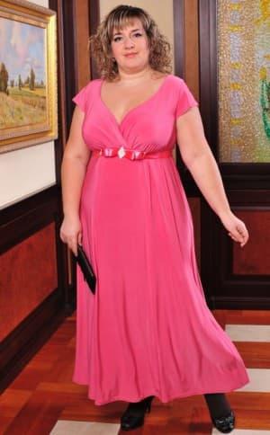 вечернее коралловое платье для больших женщин