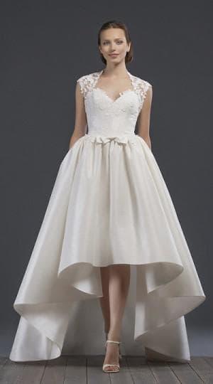 свадебное асимметричное платье от Edelweis