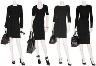 черное трикотажное платье с чем носить