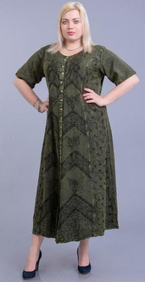 платье халат с рукавами большого размера