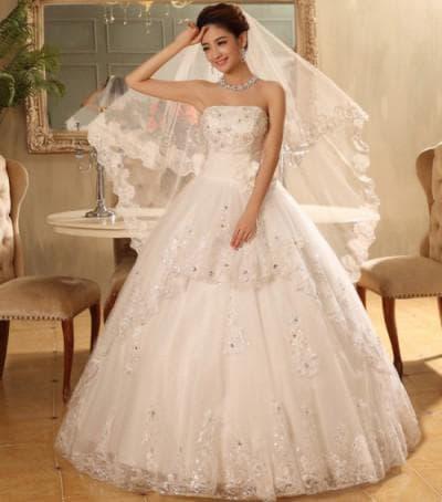 очень пышное свадебное платье от Fashion Bride
