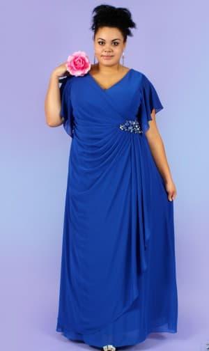 платье в пол для больших женщин