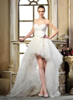 свадебное асимметричное платье от Esperanza
