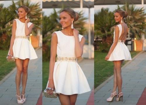 короткое платье солнышко с каймой