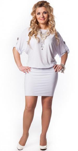 трикотажное платье для больших женщин