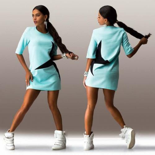 летние спортивное платье на каждый день